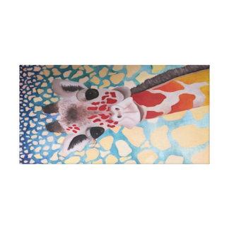 Creative Giraffe design Stretched Canvas Prints