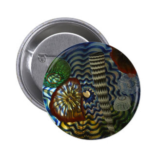 Creative Glass Blowing 6 Cm Round Badge