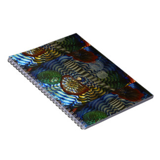 Creative Glass Blowing Spiral Notebook