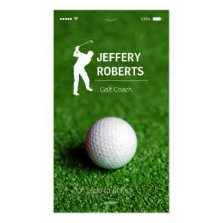 Creative Golfer Golf Coach Pack Of Standard Business Cards