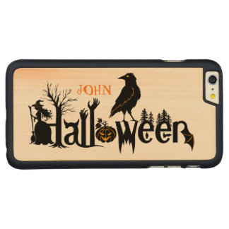 Creative Halloween Concept Design Illustration Carved Maple iPhone 6 Plus Case