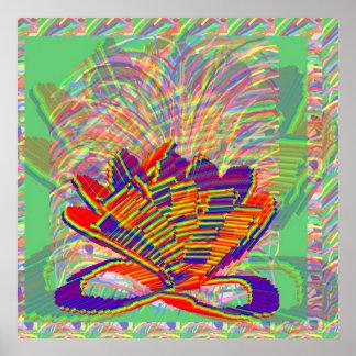 Creative Igniting CHAKRA:  Yoga Meditation Guru Poster