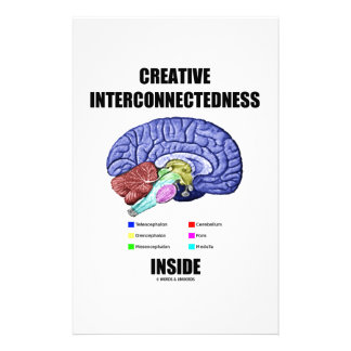 Creative Interconnectedness Inside (Brain) Personalized Stationery