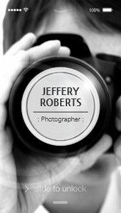 Iphone business cards zazzle uk creative iphone ios style modern photographer business card reheart Image collections