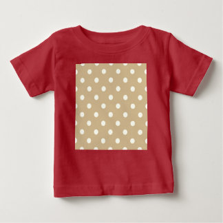 Creative kids t-shirt / Red with beige