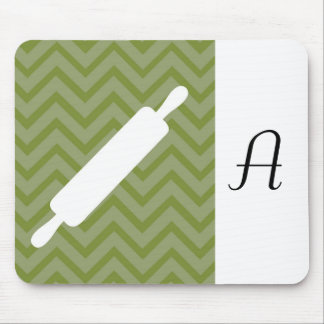 Creative-Kitchens - Rolling pin on chevron Mousepads