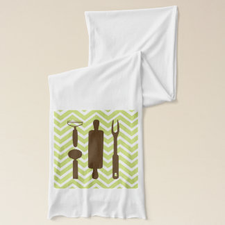 Creative Kitchens - Rolling pin on chevron. Scarf