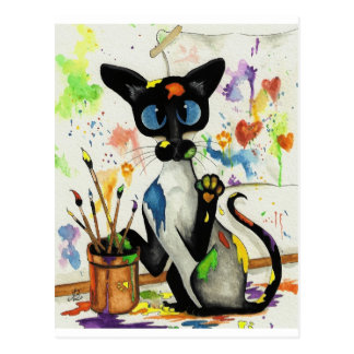 Creative Kitty Cat Postcard