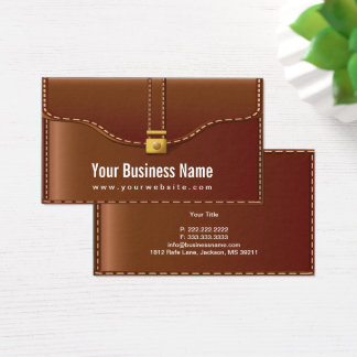 Creative Leather Case Business Card