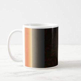 Creative light orange blossom basic white mug