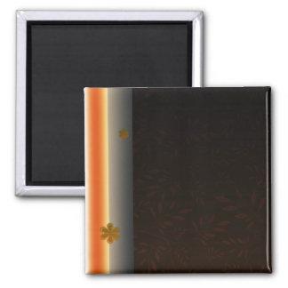 Creative light orange blossom square magnet