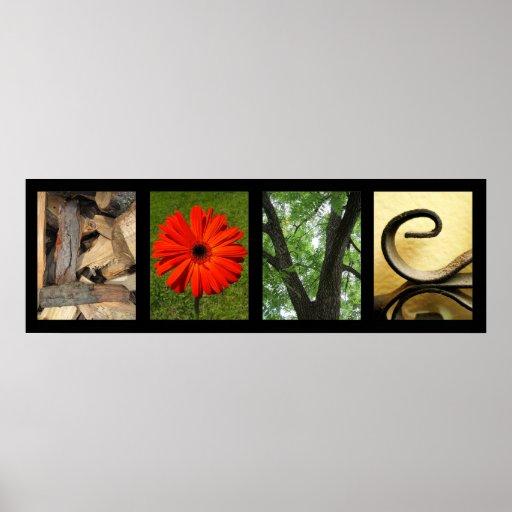 Creative Love Alphabet Photography Art Print