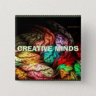 CREATIVE MINDS 15 CM SQUARE BADGE