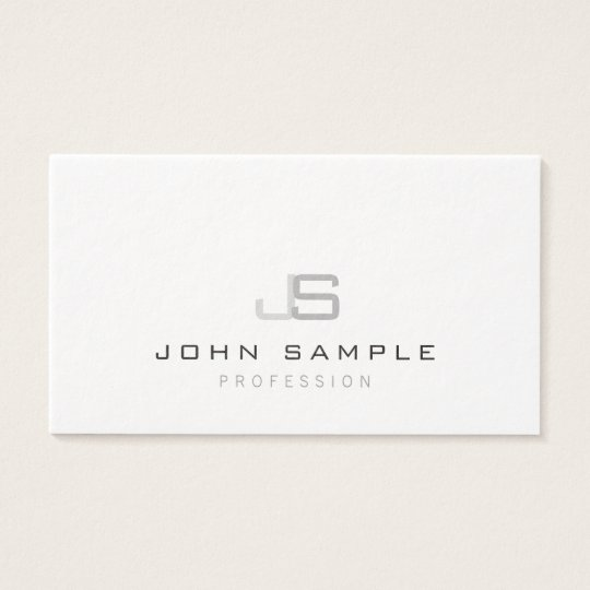 Creative Modern Professional Monogram Luxury Business Card