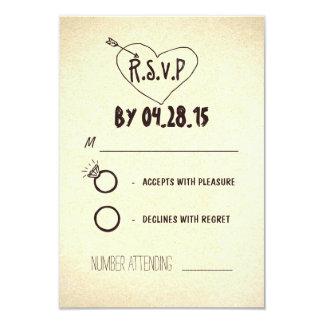 creative modern wedding RSVP cards 9 Cm X 13 Cm Invitation Card