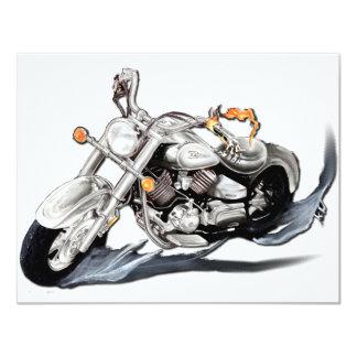 Creative Motorcycle 11 Cm X 14 Cm Invitation Card