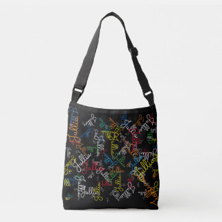 creative pattern of colorful names (your own) tote bag