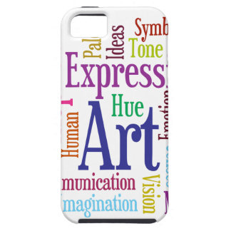 Creative Person's Art and Inspiration Word Cloud iPhone 5 Case