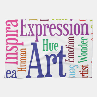 Creative Person's Art and Inspiration Word Cloud Tea Towel