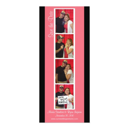 Creative Photo Booth Save the Date (Pink &