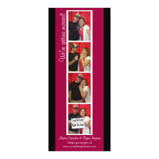 Creative Photo Booth Save the Date (Red & Black) 10 Cm X 24 Cm Invitation Card