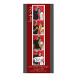 Creative Photo Booth Save the Date (Red & Pewter)