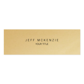 Creative Plain Slim Professional Gold Unique Pack Of Skinny Business Cards