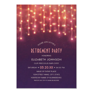 Creative String Lights Corporate Retirement Party Card