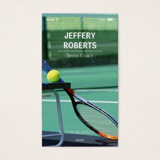 Creative Tennis Coach Tennis Trainer Business Card