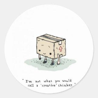 creative thinker classic round sticker
