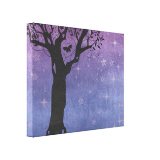 Creative Tree Silhouette Canvas Print