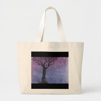 Creative Tree Silhouette Large Tote Bag