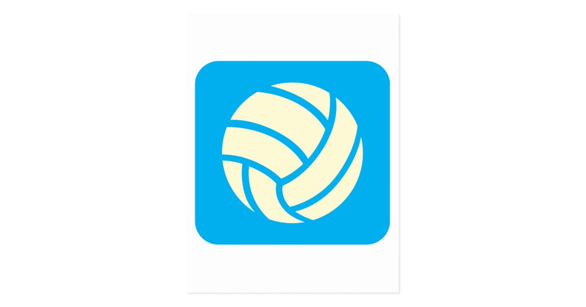 Creative Volleyball Logo Design Postcard Zazzle