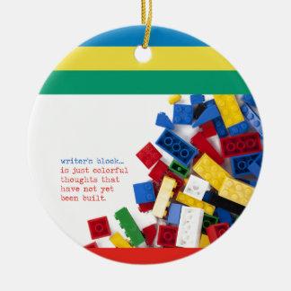 Creative Writer's Block Solution Round Ceramic Decoration