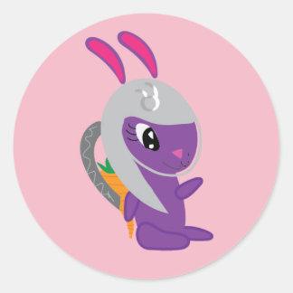 Creative Zenith Space Bunny Classic Round Sticker