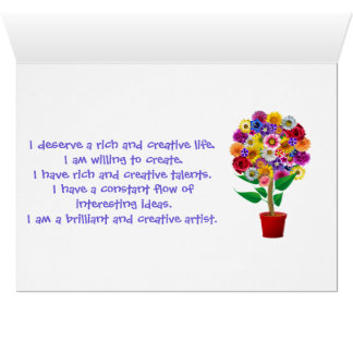 Creativity Affirmation Card - Daily Mantra Double