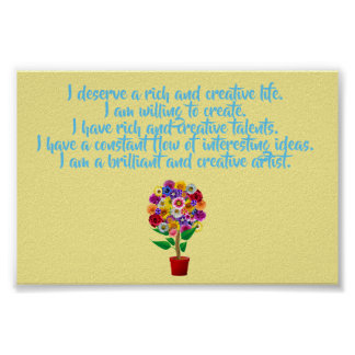 Creativity Affirmation Poster - Daily Mantra