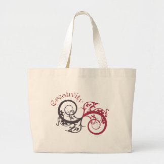 Creativity Graphic Swirl Tote Bag