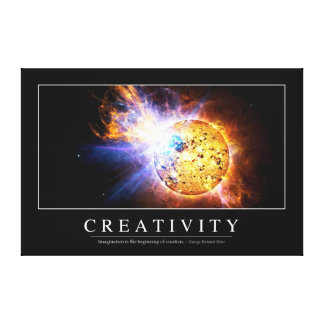 Creativity: Inspirational Quote Canvas Print