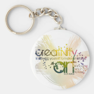 creativity is allowing yourself to make mistakes basic round button key ring