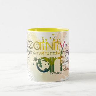 creativity is allowing yourself to make mistakes Two-Tone coffee mug
