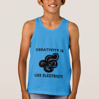 """Creativity is Like Electricity"" Boys' Tanktop"