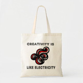 """Creativity is Like Electricity"" Classic Tote Bag"