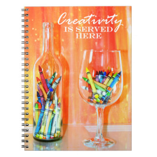 Creativity Is Served Here Notebooks