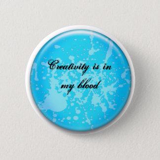 Creativity, it thrives 6 cm round badge