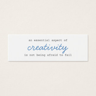 creativity mini cards script