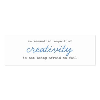 creativity mini cards script pack of skinny business cards