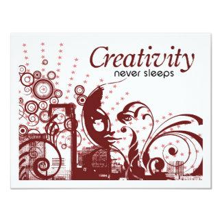 Creativity Never Sleeps 11 Cm X 14 Cm Invitation Card