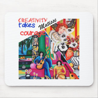 Creativity of Matisse painting collage Mouse Mat
