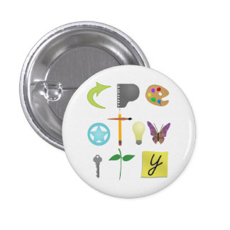 Creativity Pin-Back Buttons